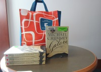 Image of Books and a bag.