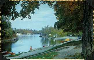 Postcard of the canal at Bobcaygeon.