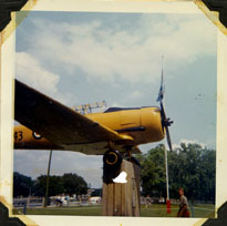 Photograph of a Harvard Trainer plane.