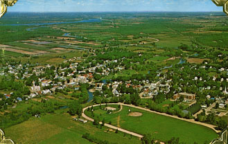 Aerial view of Kemptville.