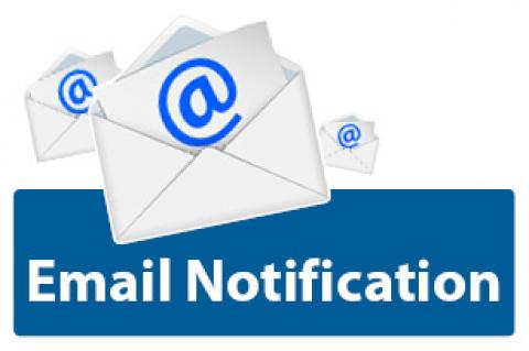 Image of email notification icon.